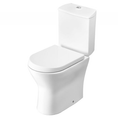 Roca Nexo Closed Coupled Toilet With Dual Flush Cistern - Standard Seat - White